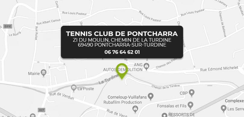 Tennis club à Pontcharra-sur-Turdine